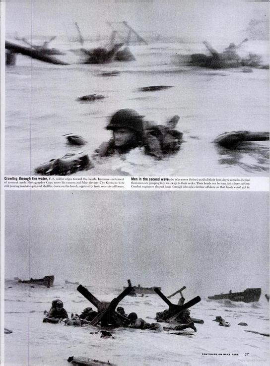 Les premières publications des photos de Robert Capa sur le débarquement en Normandie
