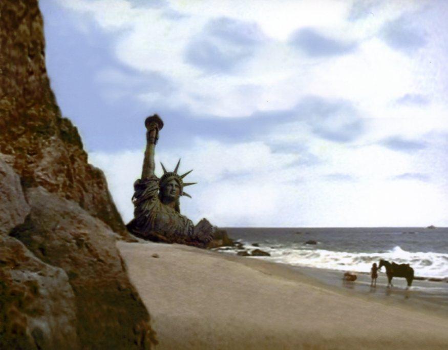 Archéologie de la statue de la Liberté en ruine