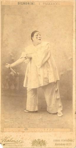 Le ténor Francesco Signorini joue Canio, circa 1908 (Signorini s'est arrêté de chanter en 1910)
