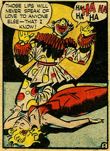 Case of the Lovesick Clown, Rudy Palais, Crime Does Not Pay #43, January 1946