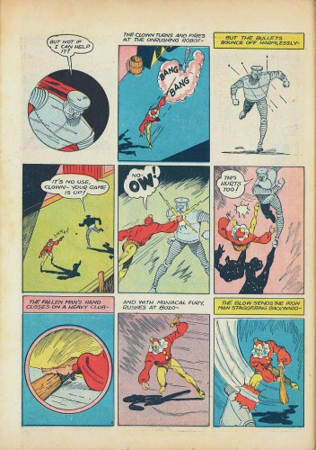 The Clown - Bozo the Robot, George Brenner (as Wayne Reid), Smash Comics #25, August 1941
