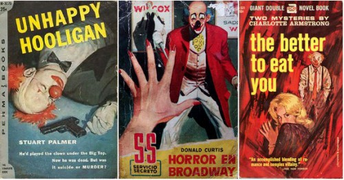 Unhappy Hooligan, Stuart Palmer, 1956 / Horror en Broadway, Donald Curtis, 1959 / The Better to Eat You, Charlotte Armstrong, Ace Books, 1963