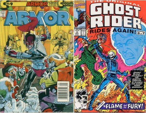 Armor #9, April 1991 / The Original Ghost Rider Rides Again #3, September 1991
