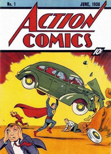 Action Comics #1, June 1938, couverture
