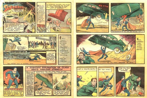 Action Comics #1, June 1938, pages 1 et 9