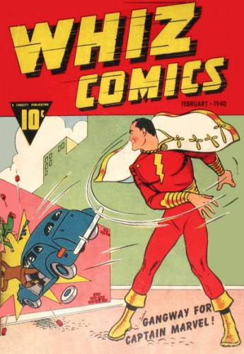 Whiz Comics #2, Captain Marvel, Cover art by C. C. Beck, February 1940