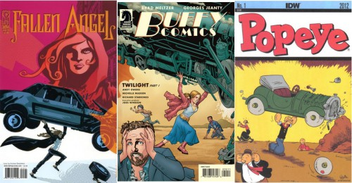 Fallen Angel #15, April 2007 / Buffy the Vampire Slayer (Season Eight, 2007–2011), Twilight Part 1, Dark Horse Comics, March 2010 / Popeye #1, IDW 2012 Series, Art by Bruce Ozella, April 2012