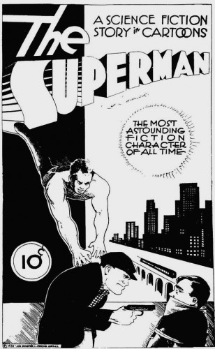 Superman Cover for Consolidated Book Publishers, Joe Shuster and Jerome Siegel, 1933