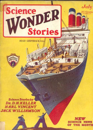 Science Wonder Stories, v1 #2, Cover art by Frank R. Paul, July 1929