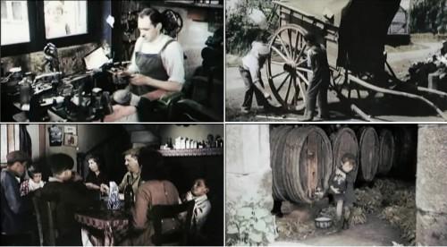 Photogrammes du documentaire Le Front populaire: à nous la vie, Jean-François Delassus, 2011 (01.00.44, 00.59.54, 00.25.34, 01.00.00)