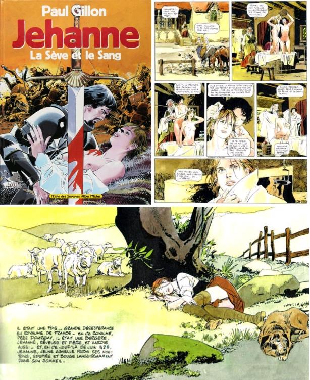 Jehanne - La Sève et le Sang, Paul Gillon, L'Écho des Savanes - Albin Michel, 1993
