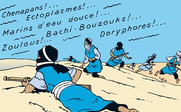 Hergé, Le Crabe aux pinces d'or, 1941, page 38 [extrait]. Copyright © Hergé / Moulinsart