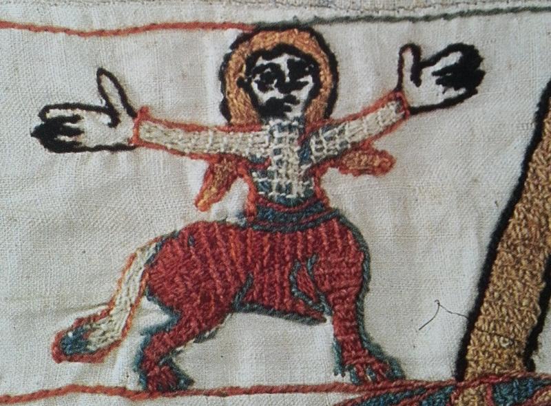 Scène 10, bordure haut - Femme-centaure. Musées de la ville de Bayeux